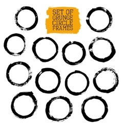 Set of Grunge Circle Frames vector image