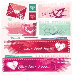 Grungy valentines vector