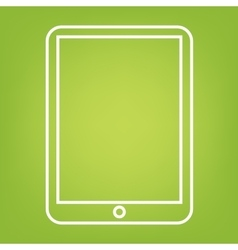 Computer tablet line icon vector