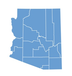 State map of arizona by counties vector