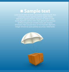 Air parcels on a white background vector