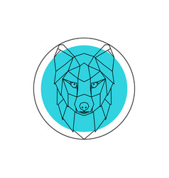 Arctic fox head logo vector
