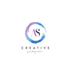 as letter logo circular purple splash brush vector image vector image