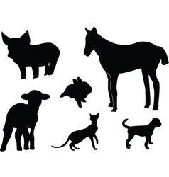 baby animals vector image