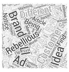 Be Rebellious Word Cloud Concept vector image vector image