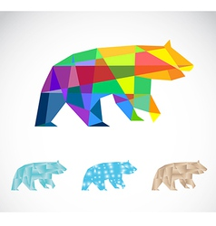 Bear abstract vector image vector image