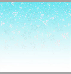 blue sky of christmas with multi snowflake picture vector image