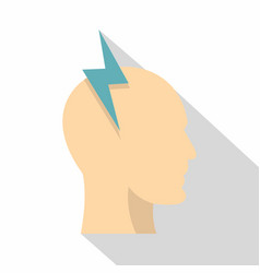 brainstorming icon flat style vector image vector image