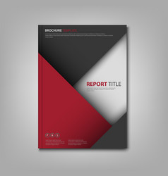 brochures book or flyer with red gray triangles vector image