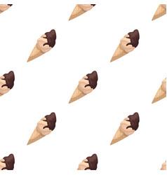 Chocolate ice-cream icon in cartoon style isolated vector