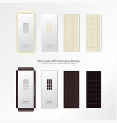 chocolate with packaging design vector image vector image