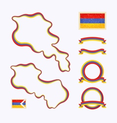 Colors of armenia vector