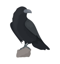 Crow of viking god icon in cartoon style isolated vector image vector image
