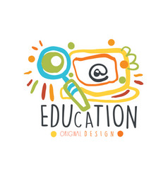 education label original design back to school vector image