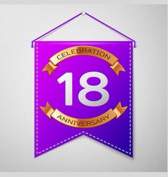 Eighteen years anniversary celebration design vector