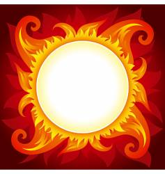 fire or sun background vector image vector image