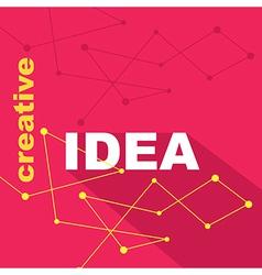 Idea concept creative background vector