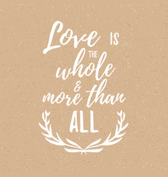 inspirational quote about love and romance vector image vector image