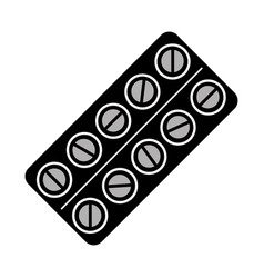 Isolated pills tablet vector