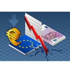 Isometric Europa crisis vector image