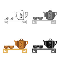 Japanese tea cartoon icon in cartoon style vector
