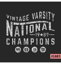 National vintage stamp vector image vector image