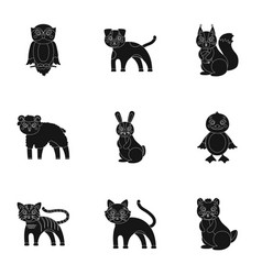 nature toys farm zoo and other web icon in vector image