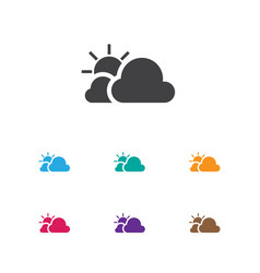 of weather symbol on sunny vector image vector image