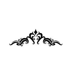 ornate floral corner and border heraldic classic vector image