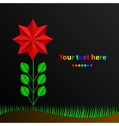 Paper rainbow flower vector
