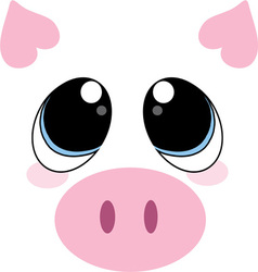 Pig face vector