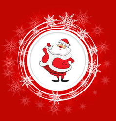 santa claus christmas festive background vector image