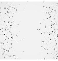 Science molecule design background vector image vector image