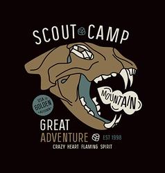 Scout camp emblem vector