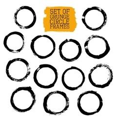 Set of grunge circle frames vector