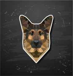 shepherd sheep-dog abstract triangle polygonal vector image