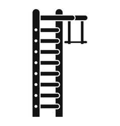 Swedish ladder icon simple style vector