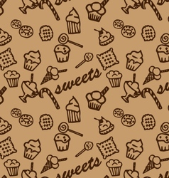 Sweets brown pattern vector