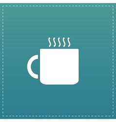 Tea cup flat icon vector