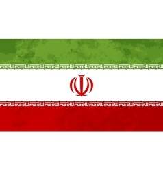 True proportions Iran flag with texture vector image vector image