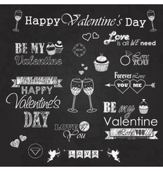 Valentines day set - labels emblems and vector image vector image