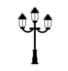 vintage street lamp vector image