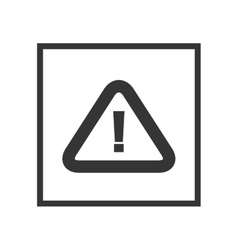 Alert attention sign vector