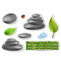 Set spa sticker vector image