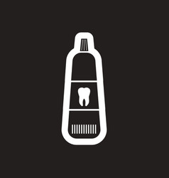 stylish black and white icon tooth paste vector image