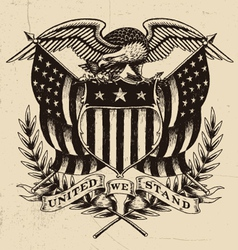 Hand Drawn American Eagle Linework vector image