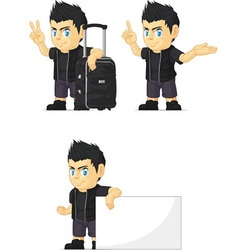 Spiky rocker boy customizable mascot 14 vector