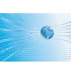 binary globe background vector image