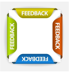 Feedback stickers vector
