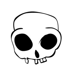 Skulls pirete missing teeth vector